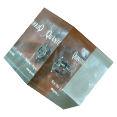 Quantomix_Lucite_paper-weight_acrylic_cube_with_metal_product_and_color_printing_inside.png